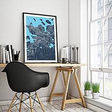 Obrazy - REYKJAVÍK, elegantný, tmavomodrý - 8875550_