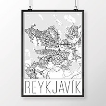 Obrazy - REYKJAVÍK, moderný, biely - 8878065_