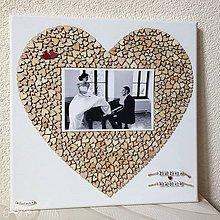 Obrázky - Srdiečkové srdce s fotkou 30x30cm (+ dve červené srdiečka) - 8878567_