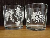 Svietidlá a sviečky - Svietnik so snehovými vločkami - 8873846_
