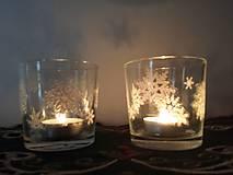 Svietidlá a sviečky - Svietnik so snehovými vločkami - 8873847_