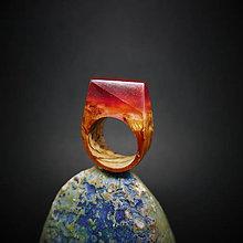 Prstene - Drevený prsteň: Pod ohnivým slnkom - 8875394_