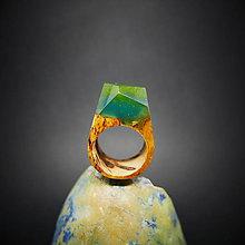 Prstene - Drevený prsteň: Korálová ulica - 8875976_