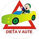 Magnetky - Magnetka Dieťa v aute variant E21 - 8875968_