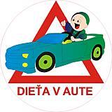Magnetky - Magnetka Dieťa v aute variant E22 - 8875996_