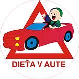Magnetky - Magnetka Dieťa v aute variant E23 - 8876044_