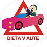 Magnetky - Magnetka Dieťa v aute variant E24 - 8876053_