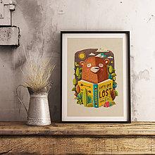 Grafika - Bear - Art print - 8877581_