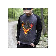 Oblečenie - mikina geometric / charcoal - 8876939_