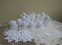 Dekorácie - Háčkované vianočné ozdoby na stromček -Sada - 8875534_