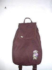 Batohy - Plátený ruksačik - hnedý - 8879084_