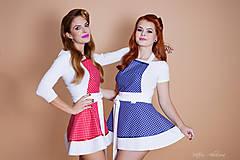 Iné oblečenie - ŠATOVÁ KUCHYNSKÁ ZÁSTERA RETRO BLUE CHIC - 8878444_