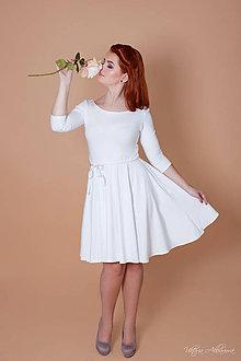 Šaty - Bambusové šaty Snehulienka - 8878458_