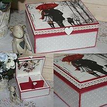Krabičky - krabička láska v daždi - 8876387_