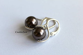 Náušnice - Náušnice Swarovski Pearls Brown - 8877396_