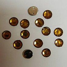 Iný materiál - Našívacie kamienky kruhové povrch rovný 8mm (TmavoOranžová) - 8878716_