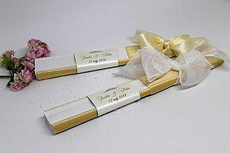 Darčeky pre svadobčanov - vejár zlaté písmo - 8874459_