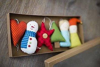 Dekorácie - Vianočná sada Veselosť - 8877592_