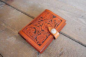 Papiernictvo - Kožený obal na zápisník A6 - 8875292_