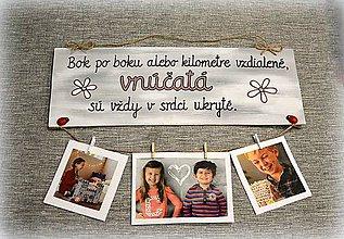 Tabuľky - Tabuľka s fotkami pre starých rodičov :-) - 8877472_