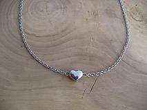 - oceľová retiazka so srdcom z ocele - 8876405_