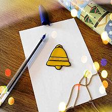 Magnetky - ★ Vianočná magnetka cartoon (zvonček) - 8877518_