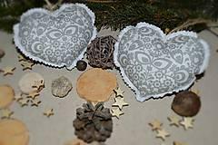 Dekorácie - Vianočné ozdoby - folklórne srdiečko na stromček 1ks - 8884598_