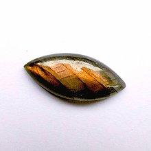 Minerály - Labradorit kabošon naveta / 31x11x5 mm (4) - 8881816_