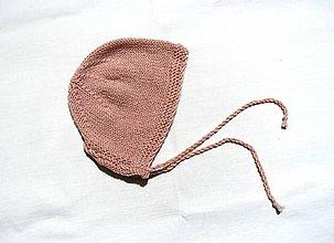 Detské čiapky - Detská čiapka - Pudrová - 8883936_