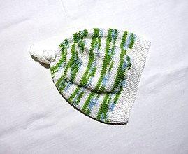 Detské čiapky - Detská čiapka - Bielozelená - 8883969_