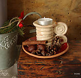 - svietnik na čajovú sviečku s miskou na aranžovanie - 8882391_