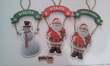Tabuľky - Vianočná tabuľka na dvere - 8880846_