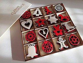 Dekorácie - Vianočné ozdoby v krabičke - 8881046_