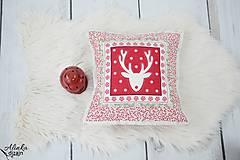 Úžitkový textil - Návliečka na vankúš scandi jelenia hlava - 8883763_