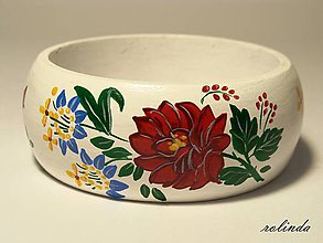 Náramky - Náramek s růžemi (bílý) - 8879978_