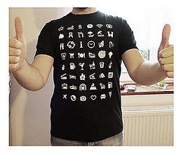 Oblečenie - Ikonkové tričko-pánske čierne - 8883286_