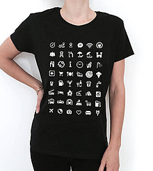 Tričká - Ikonkové tričko-dámske čierne - 8883478_