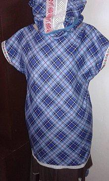 Topy - Modrý atrament - top-tunika - 8879745_