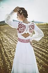 Ozdoby do vlasov - Mosadzný exkluzívny konárikový venček s kvetmi, ruženínmi a guličkami - Slavianka - 8881853_