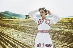Ozdoby do vlasov - Mosadzný exkluzívny konárikový venček s kvetmi, ruženínmi a guličkami - Slavianka - 8881856_