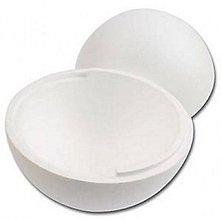 Polotovary - Polystyrenová tvarovka - Guľa - 30 cm - 8883267_