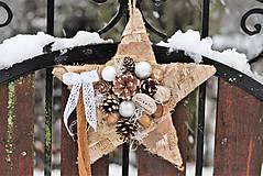 Dekorácie - Vianočná hviezdička - 8880815_