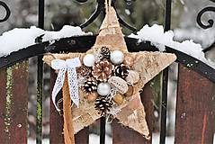 Dekorácie - Vianočná hviezdička - 8880816_