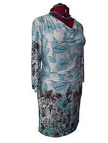 Šaty - šaty z úpletu s bordúrou - 8880711_