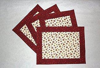 Úžitkový textil - Prestieranie vianočné s hviezdičkami - dva varianty  (väčšími) - 8881295_