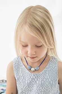 Náhrdelníky - porcelánový náhrdelník Kobalt - 8879762_