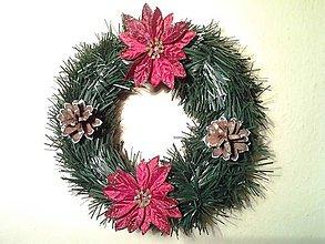 Dekorácie - vianočný veniec na hrob - 8884443_
