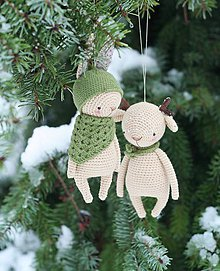 Hračky - Zvieratka ako Vianočné ozdoby - 8880323_