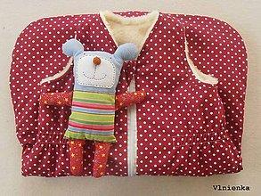 Textil - RUNO SHOP Spací vak pre deti a bábätká ZIMNÝ 100% MERINO na mieru Bodka bordová - 8884122_