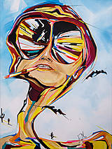 Obrazy - Obraz Fear and loathing, 60 x 80 cm, akryl na plátne - 8883993_